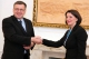 President Jahjaga received the Foreign Minister of Belgium, Vanackere