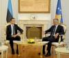 Presidenti Thaçi priti në takim ministrin e Jashtëm të Estonisë, Sven Mikser