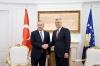 Presidenti Thaci priti në takim ministrin e Jashtëm të Turqisë, Mevlüt Çavuşoğlu