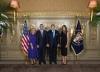 Presidenti Thaçi dhe Zonja e Parë e Kosovës u pritën nga çifti presidencial Trump