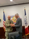 President Thaçi visits the National Guard in Iowa, meets the KSF members