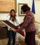 Predsednica Jahjaga primila je danas učenicu Aulona Hysaj