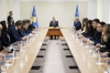 37 newly decreed judges of the Republic of Kosovo swear the oath