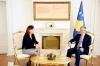Presidenti Thaçi priti në takim kryetaren e KQZ-së