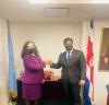 Presidentja Osmani takoi presidentin e Kostarikës, Carlos Alvarado Quesada
