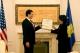 President Jahjaga awarded Mr.  James Rubin with the Presidential Medal of Merits