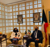 Presidentja Osmani takoi kryeministrin e Kuvajtit, Sheikh Sabah Al-Khaled Al-Hamad Al-Sabah