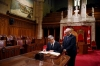 President Thaçi is received in the Canadian Senate, discusses with the Chairman