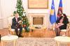 U.d Presidentja e Kosovës, dr.Vjosa Osmani priti në takim lamtumirës ambasadorin e OSBE-së në Kosovë, Jan Braathu