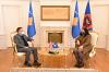 Acting President Osmani received the Ambassador of the United Kingdom, Mr. Nicholas Abott