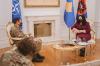 Presidentja Osmani priti në takim komandantin e KFOR-it, Franco Federici