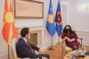 Presidentja Osmani ka pritur në takim ministrin e Jashtëm të Maqedonisë së Veriut Bujar Osmani_2
