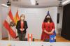 Presidentja Osmani u takua me ministren austriake të Mjedisit, Leonore Gewessler