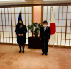 President Osmani was received at a meeting by the Minister of Foreign Affairs of Japan, Toshimitsu Motegi