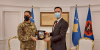 Acting President, Glauk Konjufca received in a meeting the KFOR Commander, Major General Franco Federici