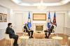 u.d. Presidenti i Kosovës, Glauk Konjufca, priti sot në takim ambasadorin e shefin e Misionit të OSBE-së, Michael Davenport