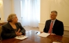 President Thaçi and the EULEX Head of Mission discuss the conclusion of the EULEX Mission in Kosovo