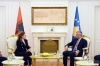 President Thaçi received the Minister of Defense of Albania, they talked about the transformation of the KSF into the army