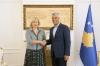 Presidenti Thaçi priti në takim lamtumirës ambasadoren kroate Kapitanoviq