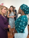 The First Lady of Kosovo attended the official reception of the First Lady of the United States