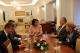 Predsednica Jahjaga je dočekala predsednika Alijansa Novo Kosovo, Behđet Pacoli