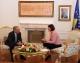 President Atifete Jahjaga received the German diplomat Wolfgang Ischinger