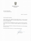 Presidentja Osmani ka pranuar telegram ngushëllimi nga Presidenti i Kroacisë Zoran Milanović