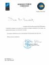 President Osmani received a telegram of condolences from the KFOR Commander, Major General Franco Federici