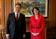 Presidentja Atifete Jahjaga u takua me Kryeministrin e Luksemburgut, Xavier Bettel