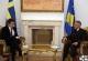 The Acting President of Kosovo Dr. Jakup Krasniqi receives Sweden's Ambassador to Kosovo Mr. Lars Wahlund