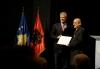 Presidents Thaçi and Meta unveil the statue of Idriz Seferi in Gjilan