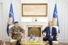Presidenti Thaçi dhe komandanti i KFOR-it flasin për gjendjen e sigurisë