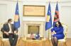 Presidentja Osmani u takua me të ngarkuarin me punë në Ambasadën e SHBA-ve, Nicholas J. Giacobbe