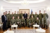 President Thaçi received the team of the Kosovar soldiers who won the silver medal at the international competition