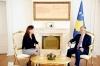 Presidenti Thaçi takoi kryetaren e KQZ-së, Valdete Daka
