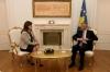 Presidenti Thaçi takoi kryetaren e KQZ-së dhe drejtorin e Policisë së Kosovës