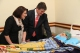 President Jahjaga visited the survived students of the accident in the Military Hospital of Tirana