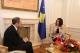 Predsednica Atifete Jahjaga je dočekala Ministra inostranih poslova Albanije, Aldo Bumçi