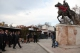 President Pacolli places flower wreaths in front of the Scanderbeg's statue and Goce Delcev's grave in Skopje