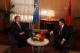 Presidenti Pacolli pritet në mënyrë madhështore nga Presidenti i Shqipërisë, Bamir Topi