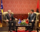The Acting President Dr. Jakup Krasniqi meets the President of Albania Bamir Topi