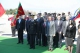 President Pacolli places flower wreaths in front of the Mother Albania monument in Tirana