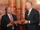 Edi Rama hands the Tirana key over to President Pacolli